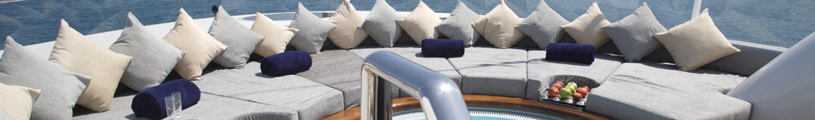 Exterior cushions and upholstery